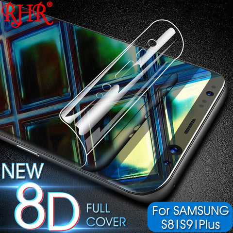New 8D Full Cover Soft Hydrogel Film For Samsung Galaxy Note8 S8 S9 Screen Protector For Samsung S9 S8 S7 S6 Edge Plus Not Glass