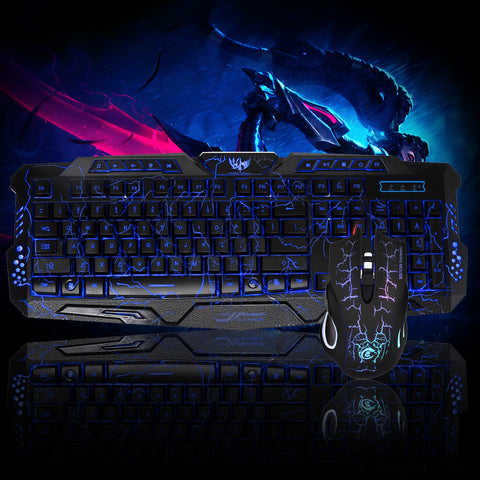 LED Gaming 2.4G Keyboard and Mouse