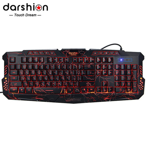 Darshion M300 RBacklit Keyboard LED USB Wired