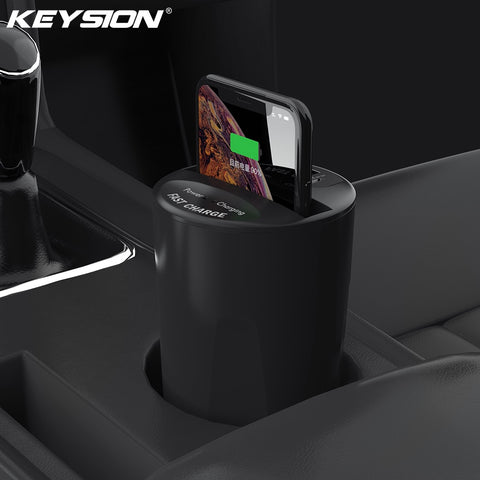 10W Fast Qi IN-CAR Wireless charger for Samsung Apple and Huawei