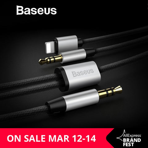Baseus 2IN1 Audio Cable For iPhone Jac For iPhone 8pin to 3.5mm