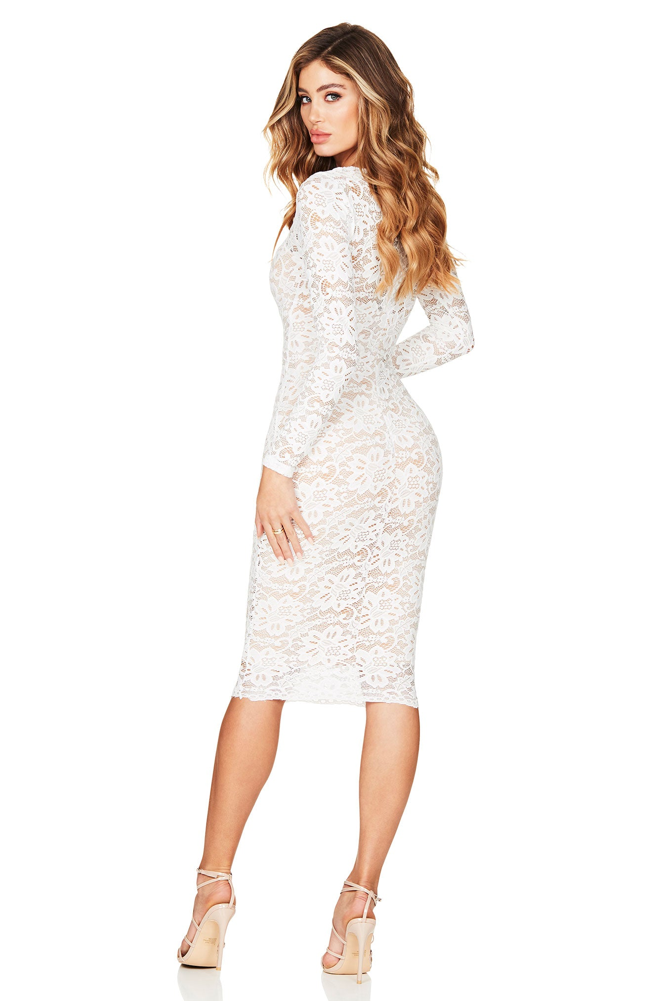 NOOKIE ROMANCE LONG SLEEVE MIDI