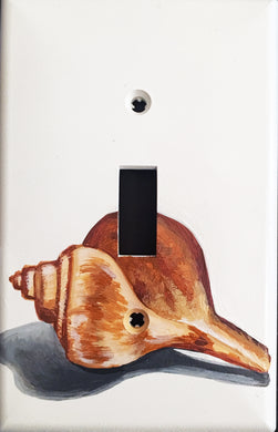 Sea Shell Painted Light Switch Cover