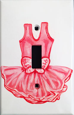 Pink Tutu Painted Light Switch Cover