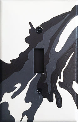 372 Abstract Painted Light Switch Cover