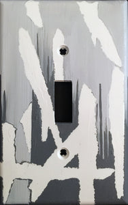 45 Abstract Painted Light Switch Cover