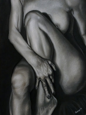 Entice Original Charcoal Drawing
