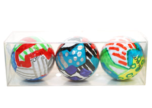 My Lucky Ball- Abstract Hand Painted Golf Balls (Set of 3)