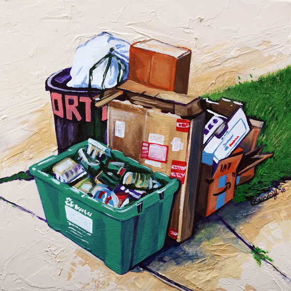 Trash Original Painting