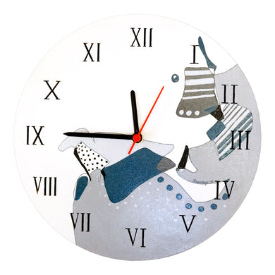 Abstract Painted Analog Clock 2