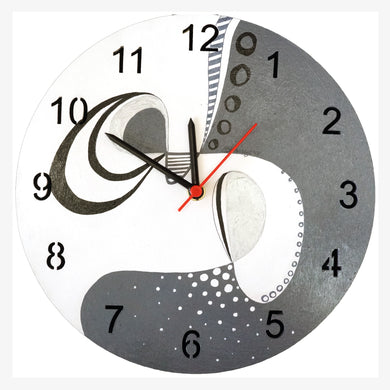 Abstract Painted Analog Clock