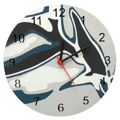 Abstract Painted Analog Clock 3