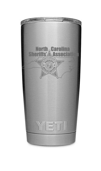 NCSA YETI 20 oz. Stainless Steel Rambler Tumbler with MagSlider Lid