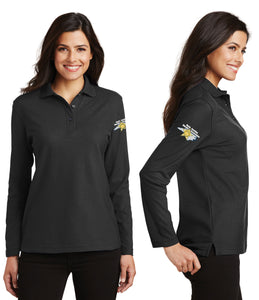 Ladies Port Authority Silk Touch Long Sleeve Polo