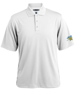 Men's Pebble Beach Short Sleeve Polo - White