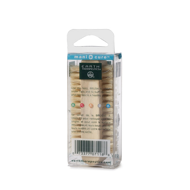 Genuine Bristle Nail Brush PKG-back
