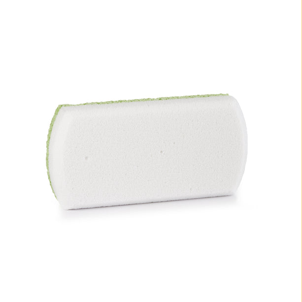Pedi-Glass Stone - green pedi stone-white