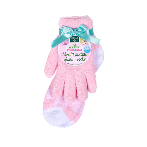 Pink Aloe Gloves and Socks Combo Set