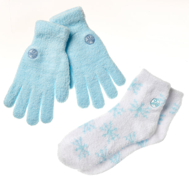 Blue Snow Gloves and Socks Combo Set