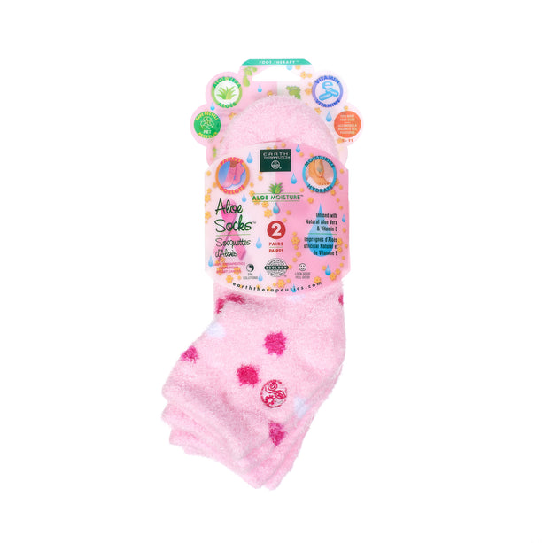 Aloe socks-Double Pack Socks PKG-pink polka