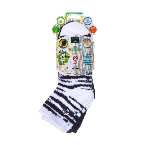 Aloe socks-Double Pack Socks PKG 2pk-blackZebra