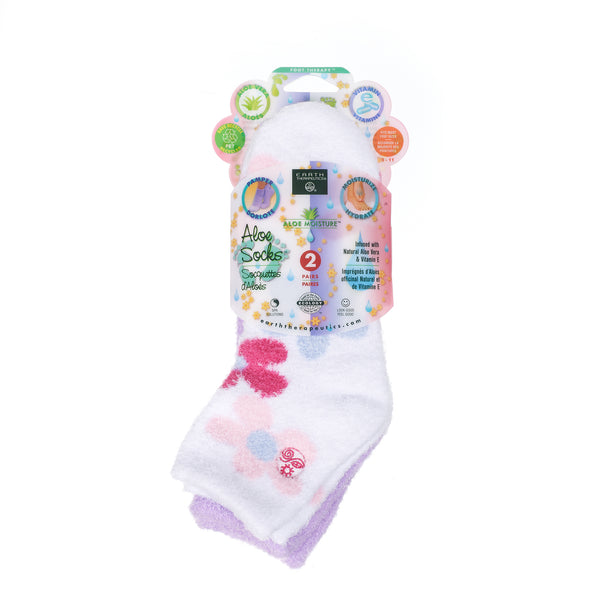 Aloe socks-Double Pack Socks PKG 2pk-flowerLavender