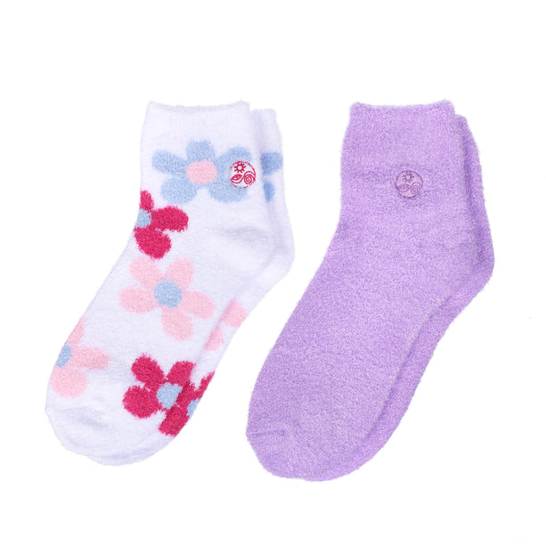 Aloe socks-Double Pack Socks socks 2pk-flowerLavender