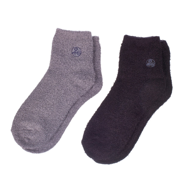 Aloe socks-Double Pack Socks socks-GreyBlack