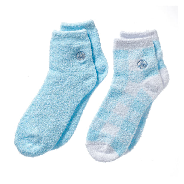 Light Blue Pink Aloe socks - Double Pack Socks