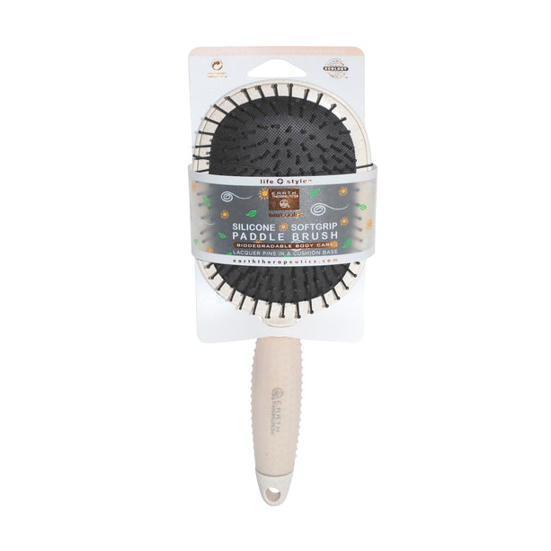 Silicone Softgrip Paddle & Soft Bristle Brush