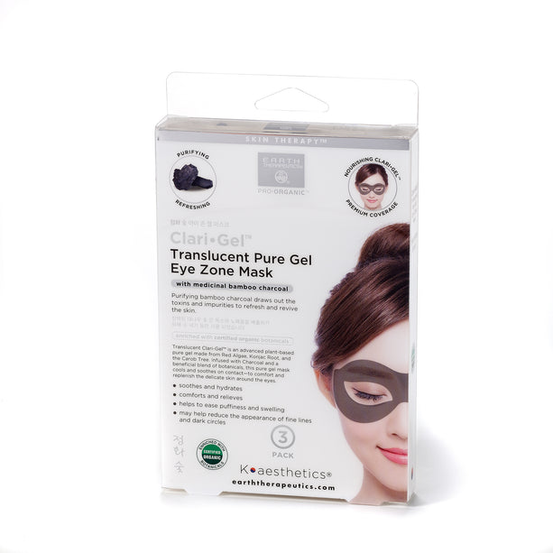 ClariGel Eye Zone Mask Pouch - Charcoal box_Front
