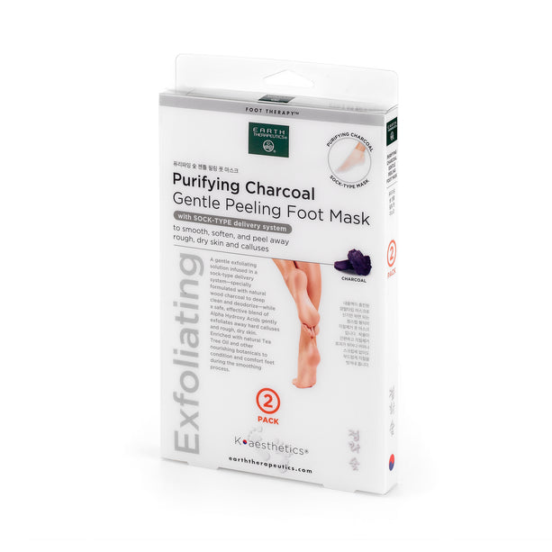 Purifying Charcoal Gentle Peeling Foot Mask - 2 Pairs