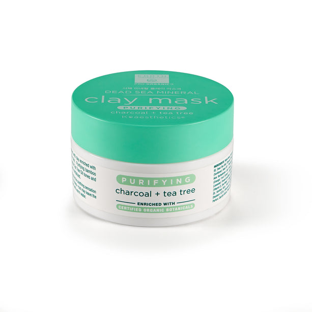 Dead Sea Mineral Clay Mask - Charcoal & Tea Tree