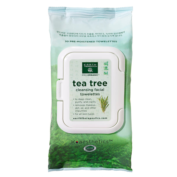 Makeup Remover Wipes - Tea Tree - 30ct Wipes-Front