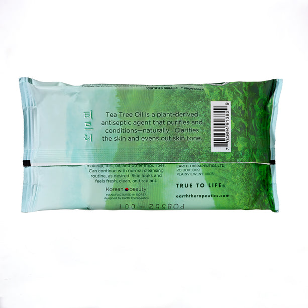 Makeup Remover Wipes - Tea Tree - 30ct Wipes-back