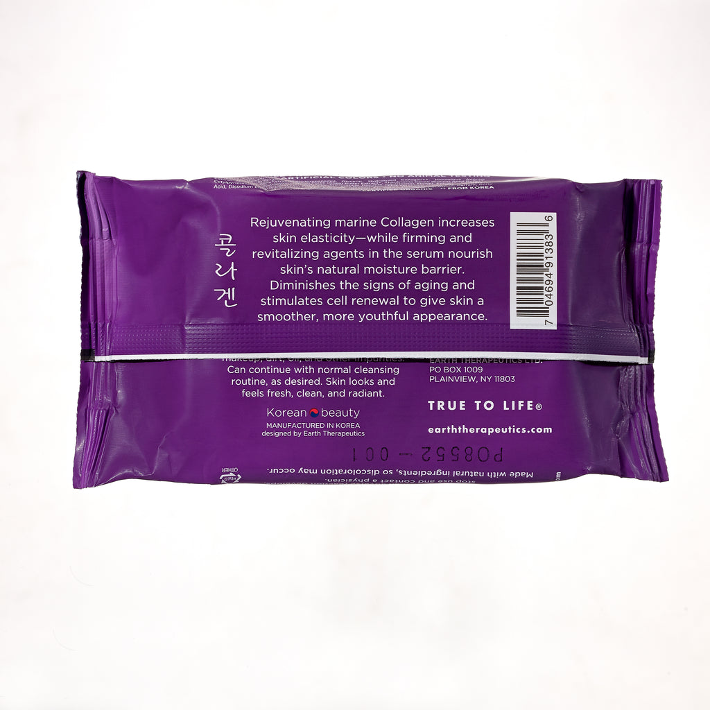 Makeup Remover Wipes Collagen by earth therapeutics #7