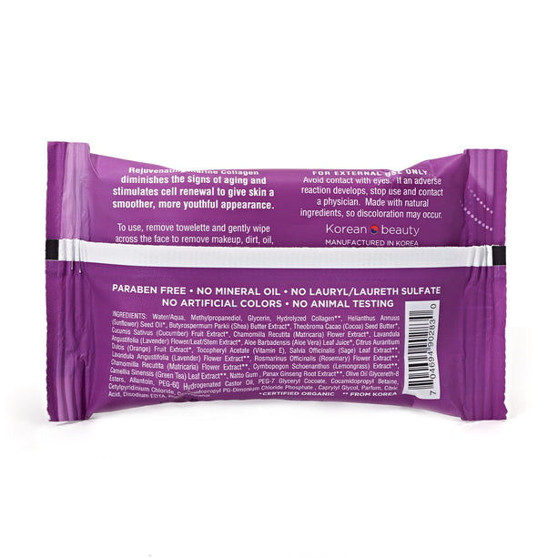Collagen Makeup Remover Wipes - Travel