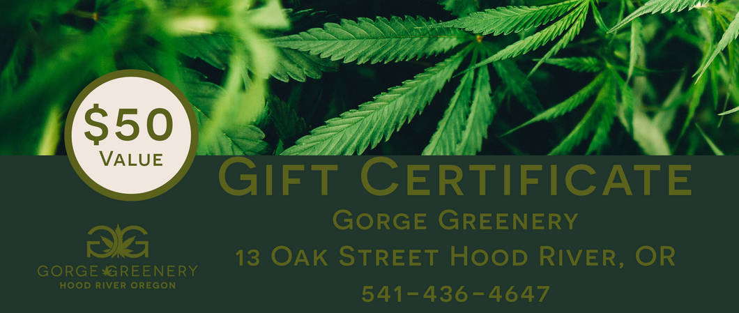 $50 Gorge Greenery Gift Certificate
