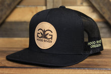 Gorge Greenery Snapback Hat: Leather Patch