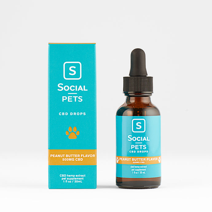 Pet CBD Drops Peanut Butter 500mg CBD - Social