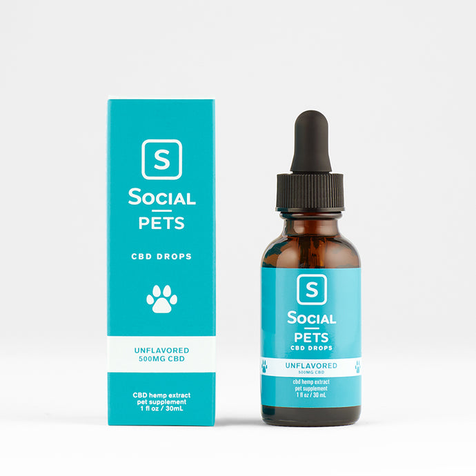 Pet CBD Drops Unflavored 500mg CBD - Social