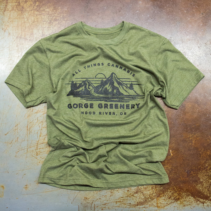 All Things Cannabis T-Shirt Military Green