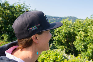 Gorge Greenery Snapback Hat: Hood River Pride LIMITED EDITION