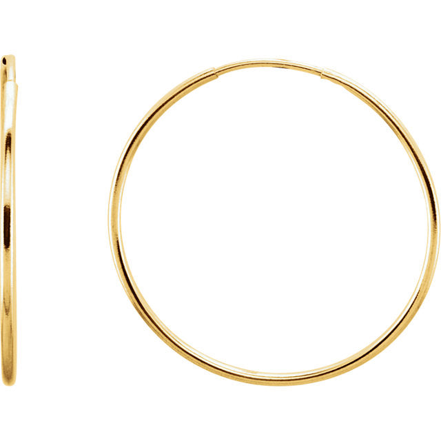 Gold Hoop Earrings 25MM