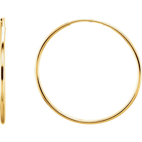 Gold Hoop Earrings 24MM