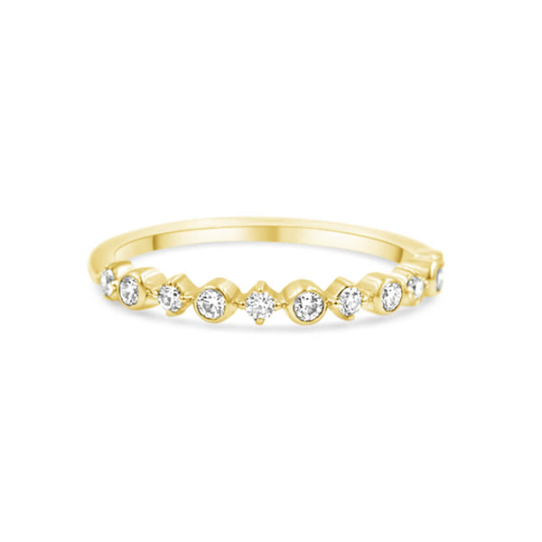 diamond band in 14K yellow gold