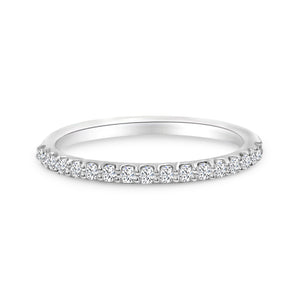 Diamond Wedding Band In 14K White Gold
