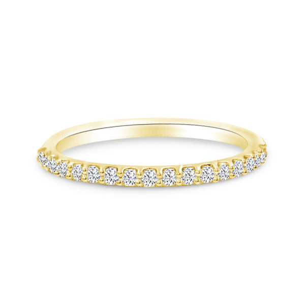 Diamond Wedding Band In 14K Yellow Gold