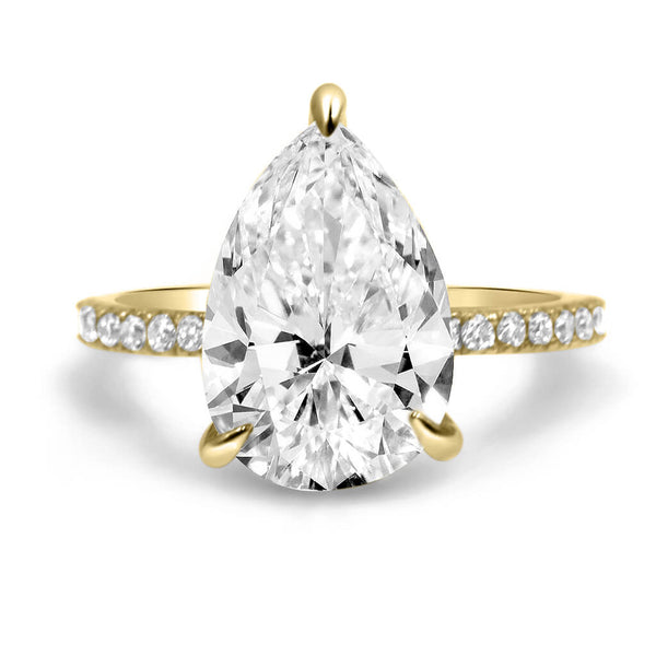 Ally Pear Moissanite Engagement Ring