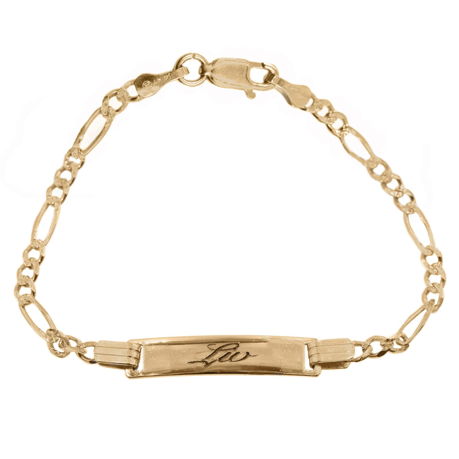Custom Baby ID Bracelet in 14K Solid Gold